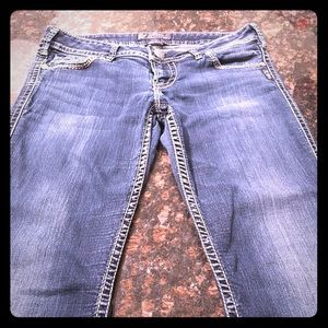 """Silver """"Twisted"""" Jeans"""